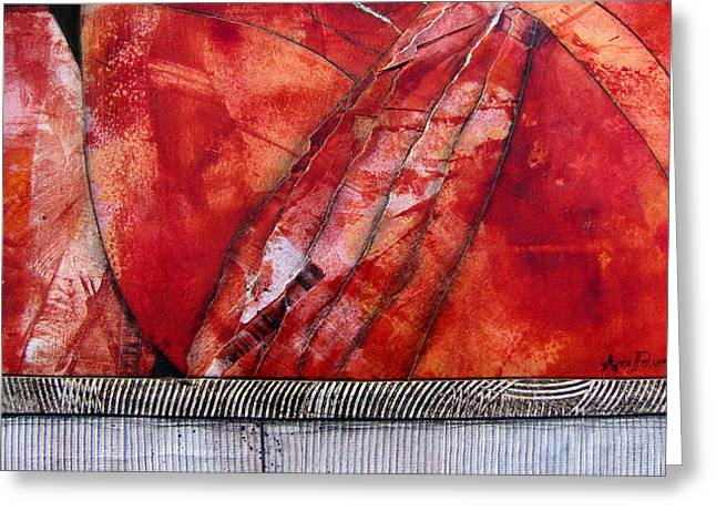 Fault Line Greeting Card by Ann Powell