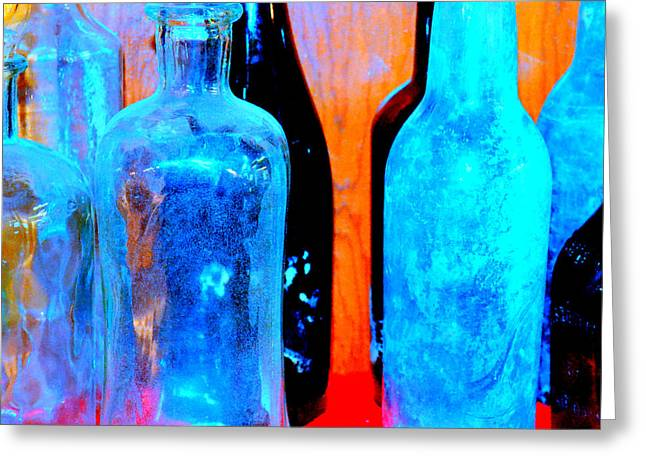 Fauvist Bottles Greeting Card