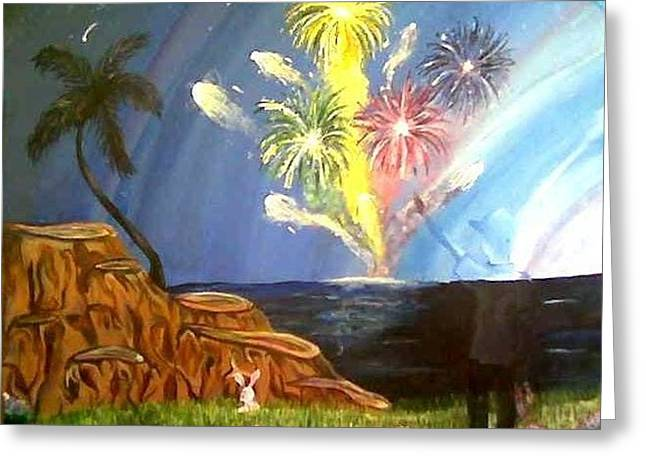 Favorite Fireworks Greeting Card by Kammy Hodges