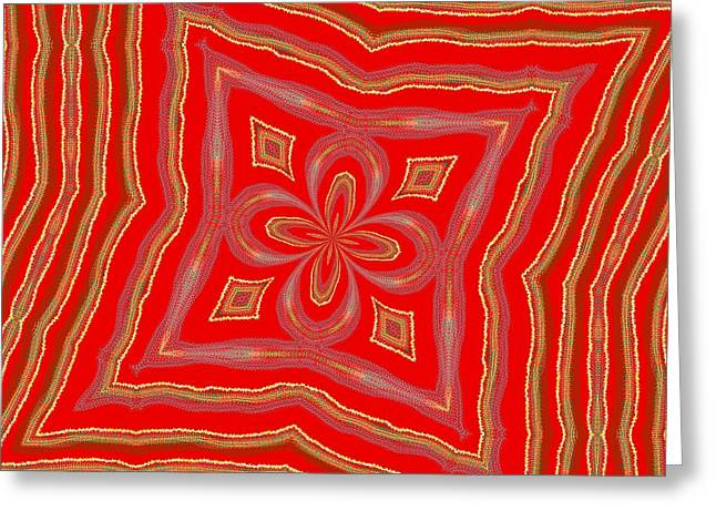 Greeting Card featuring the digital art Favorite Red Pillow by Alec Drake