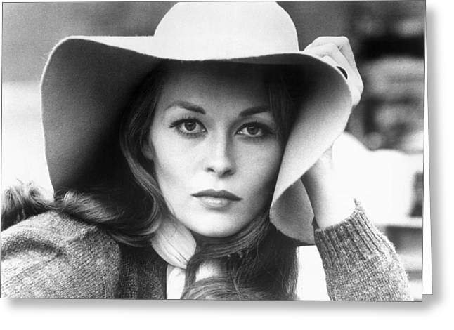 Faye Dunaway (1941- ) Greeting Card by Granger