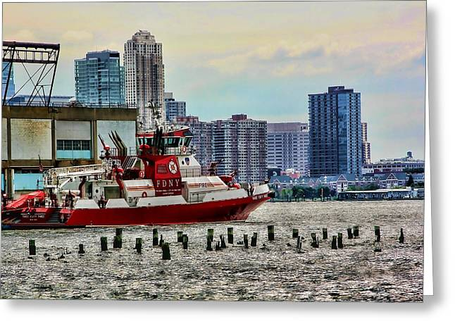 Fdny Fireboat Greeting Card