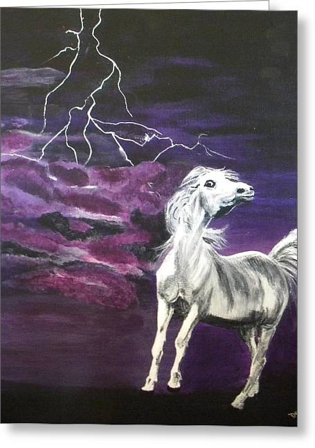 Fear In The Night 2 Greeting Card