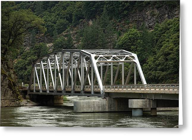 Greeting Card featuring the photograph Feather River Bridge by Gary Rose