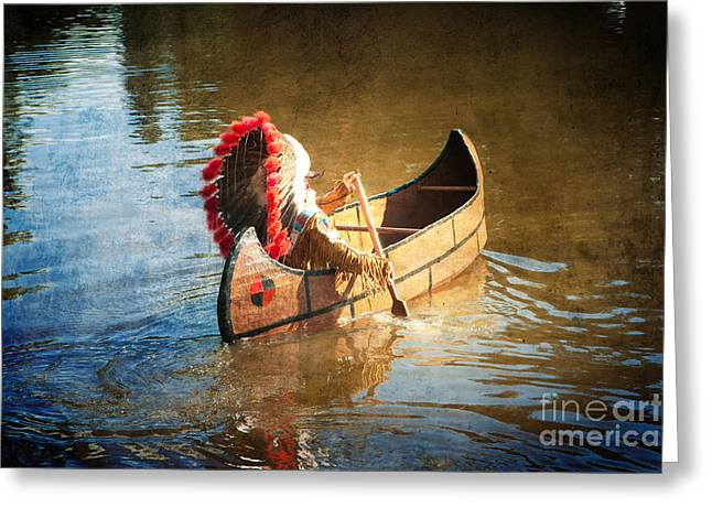 Feather Warbonnet Greeting Card by Boris Suntsov
