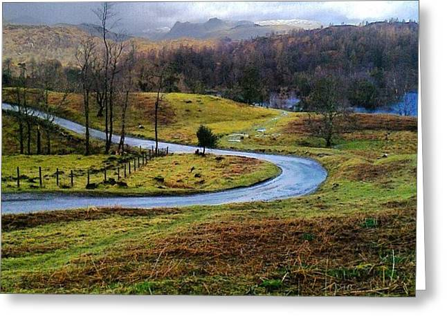 February In The Lakes Greeting Card