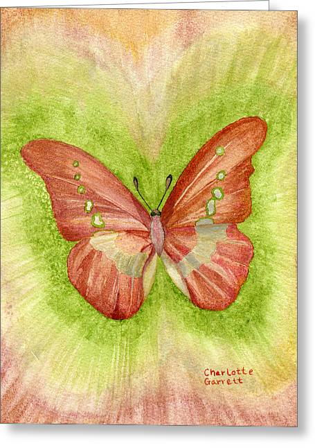 Feelings Butterfly Greeting Card by Charlotte Garrett