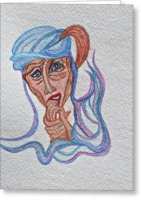Feelings Greeting Card by Ruth Edward Anderson