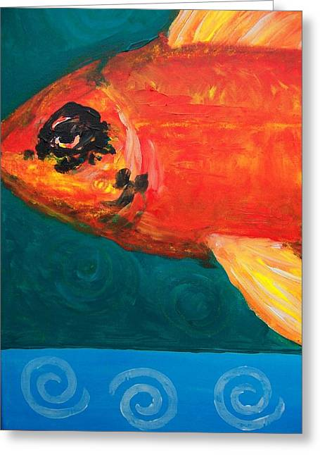 Feesh Greeting Card by Krista Ouellette