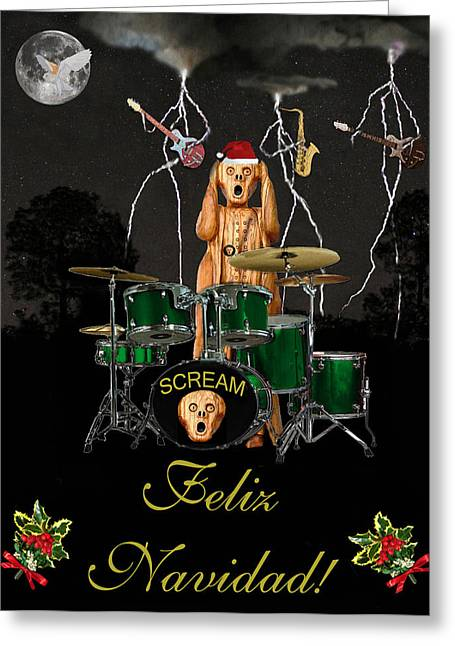 Felix Navidad  Christmas Number One Greeting Card by Eric Kempson
