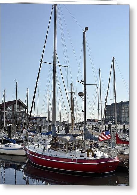 Fells Point Boatyard Greeting Card by Brendan Reals