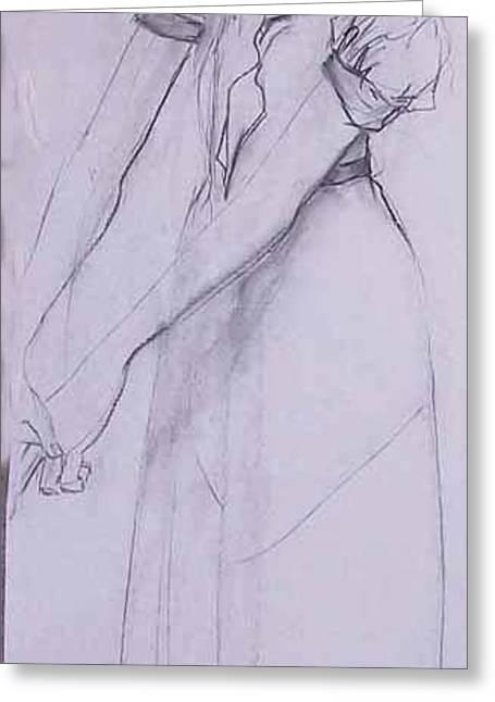 Female Figure 4269 Greeting Card by Elizabeth Parashis