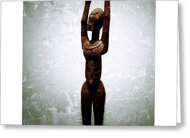 Female Figure Standing With Arms Greeting Card