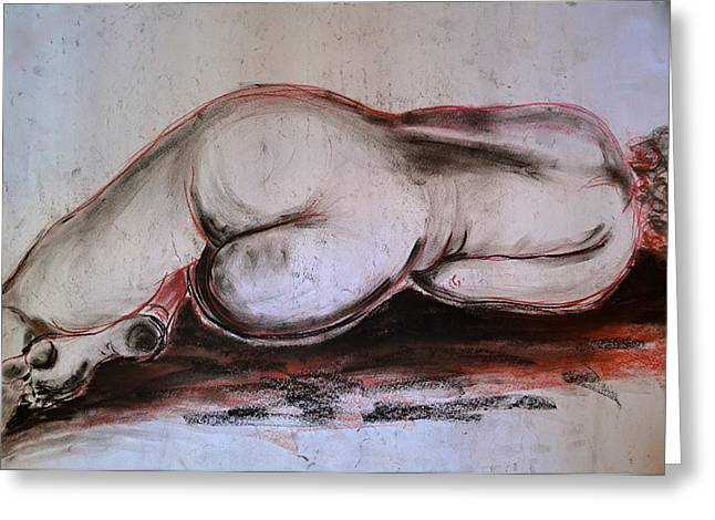 Female Nude Sleeping Greeting Card
