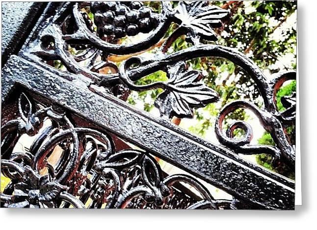 #fence #gate #decorative #ornamental Greeting Card