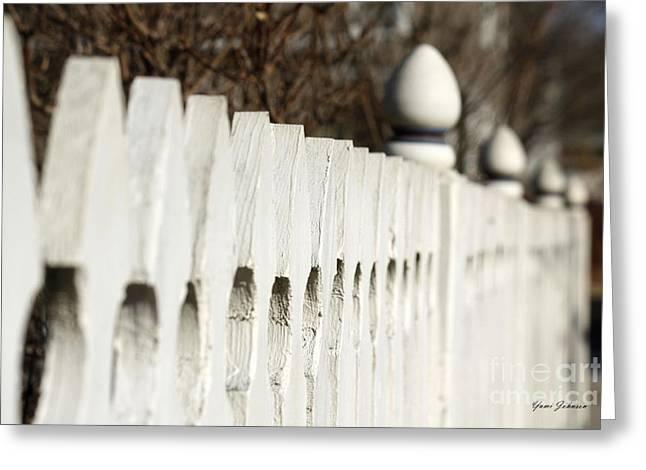 Fence Greeting Card by Yumi Johnson