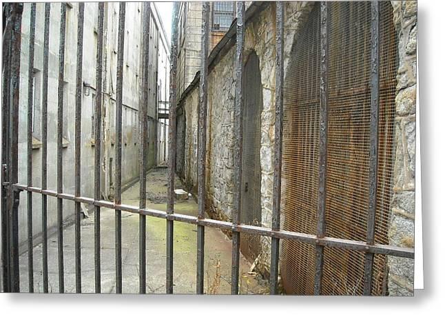 Fenced Alleyway Greeting Card