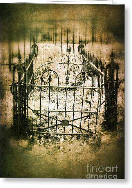 Fenced Grave Greeting Card
