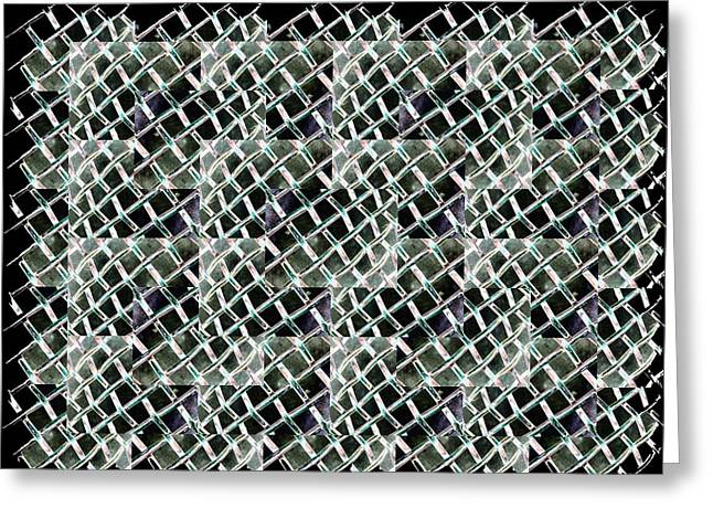 Fenced Greeting Card by Tim Allen
