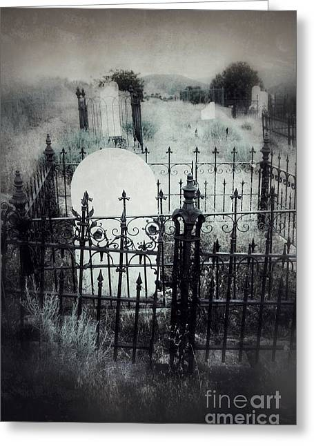 Fences In Graves Greeting Card