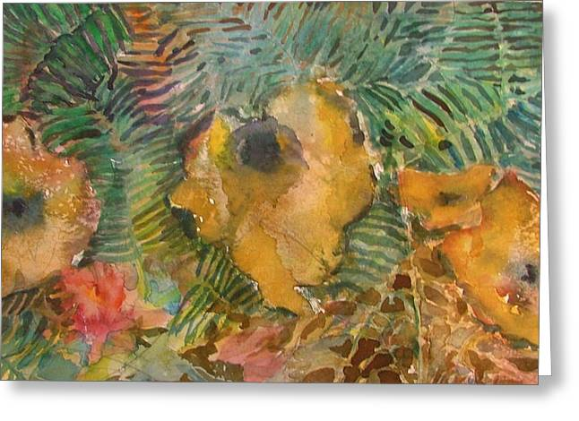 Ferns And Mushrooms Greeting Card by Mindy Newman