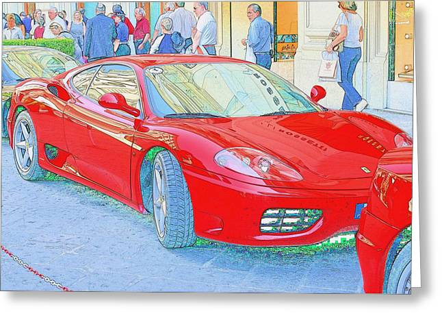 Ferrari In Rome Greeting Card by Don Fleming