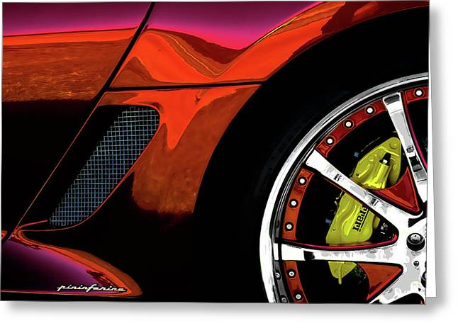 Ferrari Wheel Detail Greeting Card