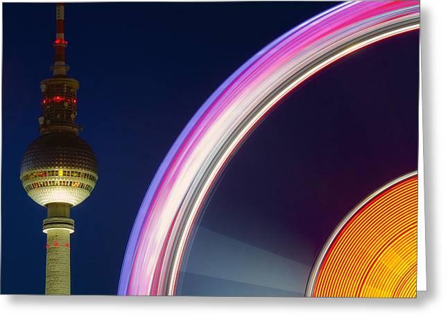 Ferris Wheel Berlin Greeting Card by Marcus Klepper