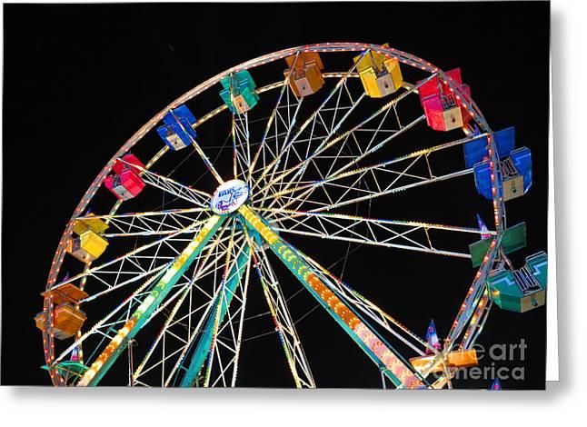 Ferris Wheel II Greeting Card by Heidi Hermes