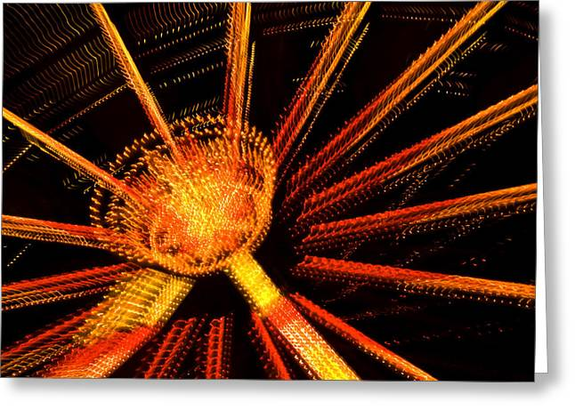 Ferris Wheel Lights Greeting Card by Jeffrey Auger