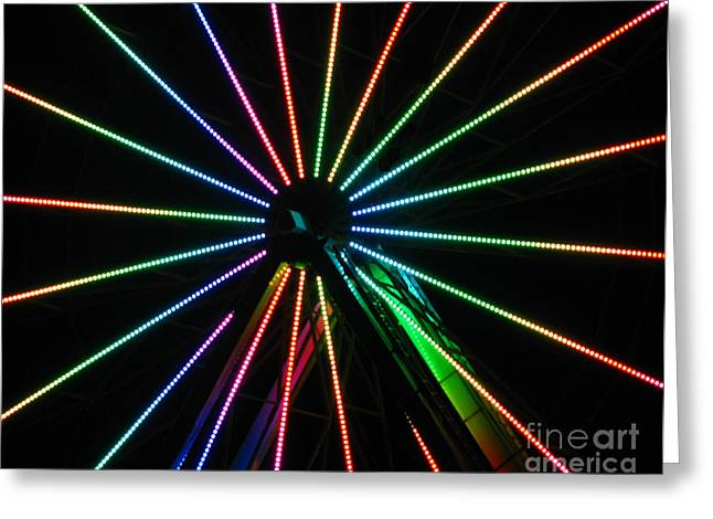 Ferris Wheel Greeting Card by Peter Piatt