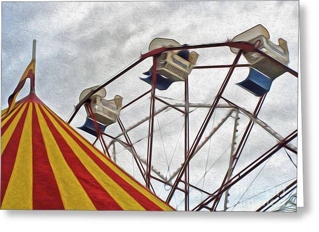 Ferris Wheel Ride Greeting Card by Gregory Dyer