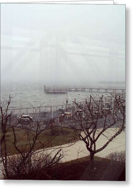 Ferry 2 Greeting Card by Cynthia Harvey