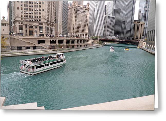 Ferry Through Chicago Greeting Card