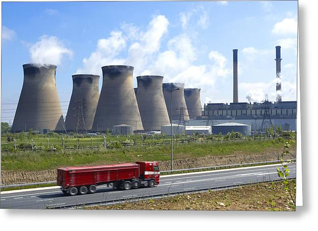 Ferrybridge Power Station Greeting Card by Mark Sykes
