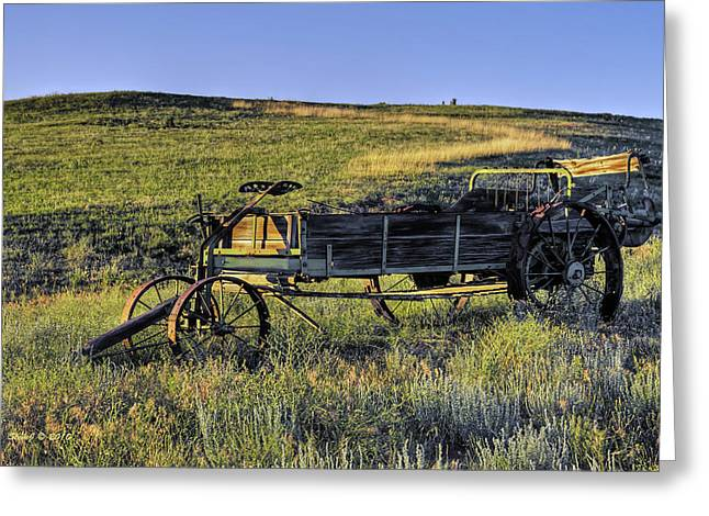 Greeting Card featuring the photograph Fertilizer Spreader by Stephen  Johnson