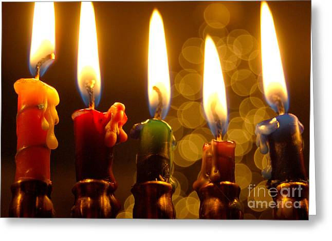 Greeting Card featuring the photograph Festival Of Lights by Linda Mesibov