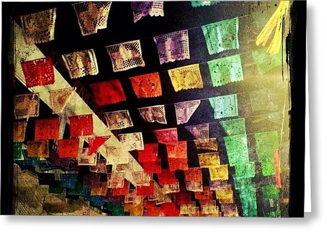 Festive Mexican Street Decorations Greeting Card