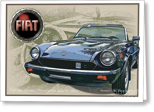 Fiat Spyder Greeting Card