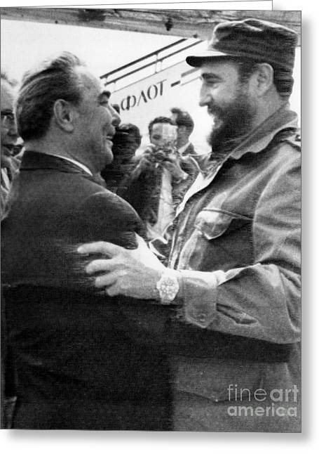 Fidel Castro (1926- ) Greeting Card by Granger