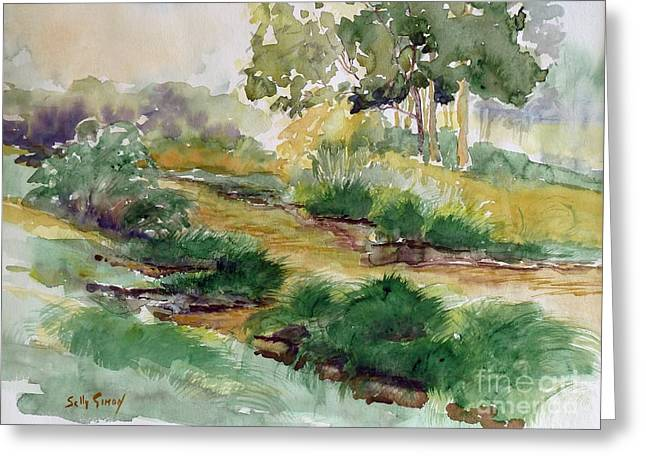 Field Of Streams Greeting Card