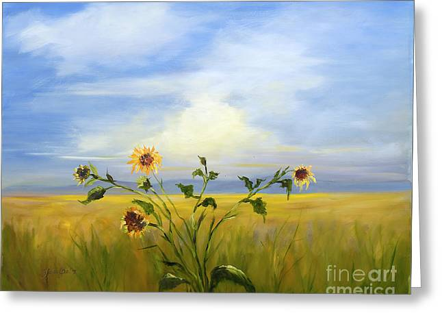 Field Of Sunflowers Greeting Card