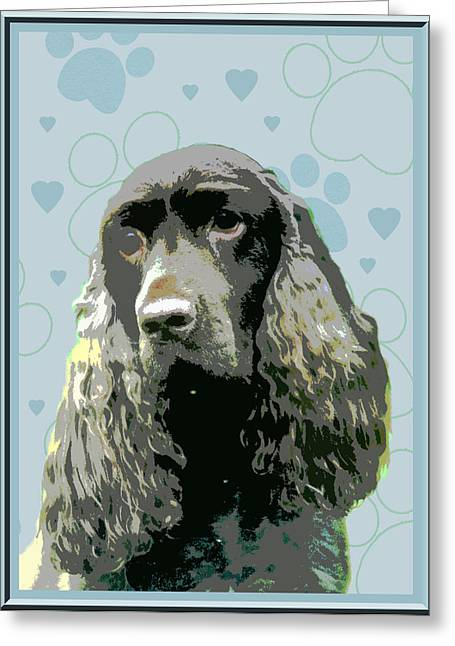 Field Spaniel Greeting Card by One Rude Dawg Orcutt