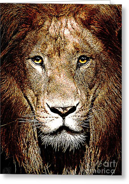 Fiercely Captivating Greeting Card by The DigArtisT