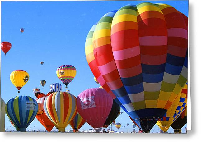Fiesta Balloons Greeting Card by Les Walker