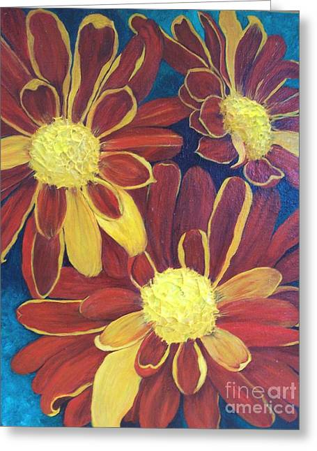 Fiesta Daisies Greeting Card