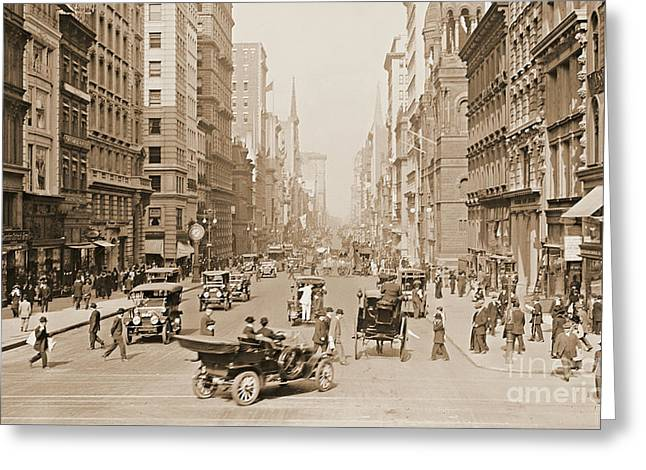 Fifth Avenue New York City 1907 Greeting Card
