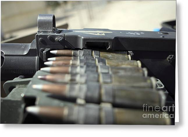 Fifty-caliber Machine Gun Rounds Greeting Card by Stocktrek Images