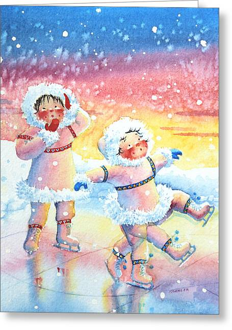 Figure Skater 9 Greeting Card