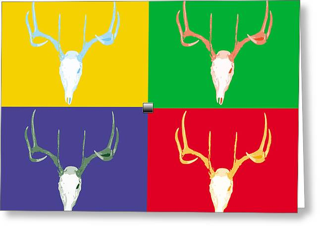 Filtered Deer Greeting Card by John Mathias